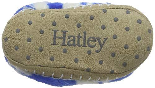 roaming Dinos 400 Hatley Slipper Fleece Fuzzy Slouch Montants Garçon Bleu Chaussons qzTR8wq