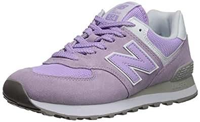 New Balance Women's 574v2 Sneaker, Violet glo/White, 5 B US