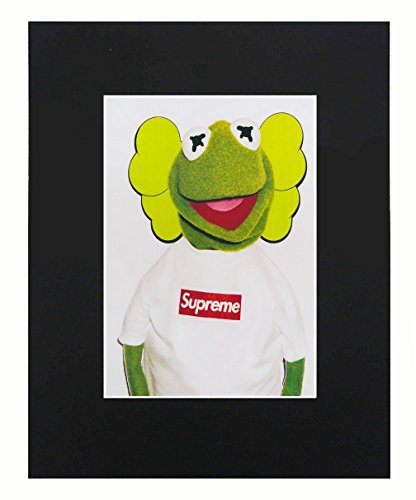 Supreme X Kermit the frog print poster matte urban street dope Cool 8x10 Black Matted Art Artworks Print Paintings Printed Picture Photograph Poster Gift Wall Decor Display USA - Poster Print Best Seller