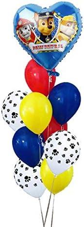 PAW PATROL 10個 ピンク スカイ チェイス ブラック バルーン ゴールド ハート フォイル 球 数字 ヘリウム シャワー ローズ おもちゃ 赤ちゃん 誕生日 パーティー 装飾