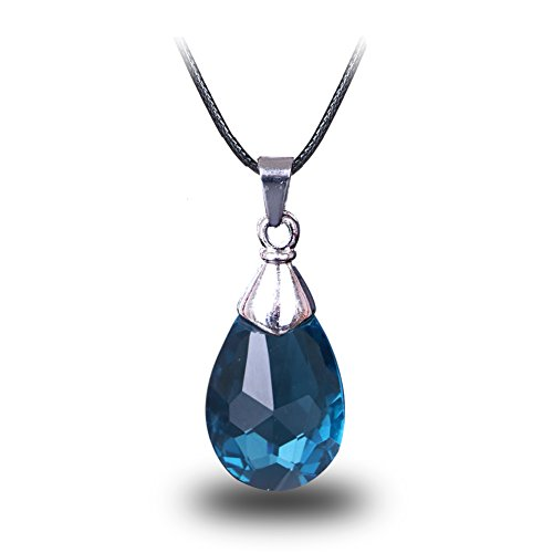 CG Costume Sword Art Online Necklace SAO Kirito Asuna Yui Light Blue Crystal