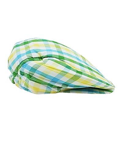 RuggedButts® Infant / Toddler Boys Plaid Drivers Cap - Green - 6-12m - Striped Seersucker Cap
