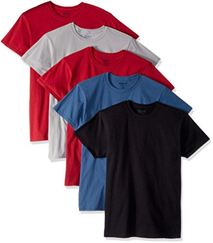 Gildan Men's Crew T-Shirts, Assortment, Medium 5 Pack