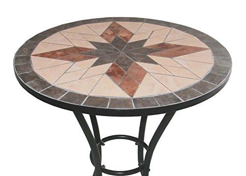 Sedie In Ferro Battuto Pieghevoli : Bagno italia arredo per esterno tavolino con mosaico 2 sedie in