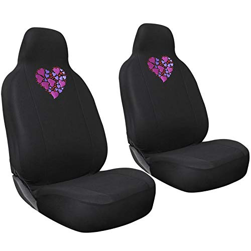 Motorup America Auto Seat Cover 2pc Set Intergrated High Bac