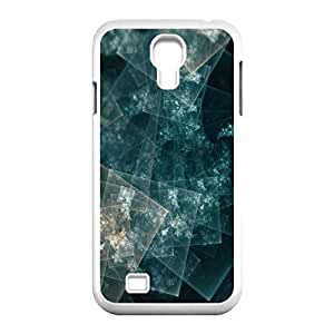 Hard Shell S IV Case- Squares Abstract.jpg Protective PC Case for Samsung Galaxy S4 I9500 (White 102128)