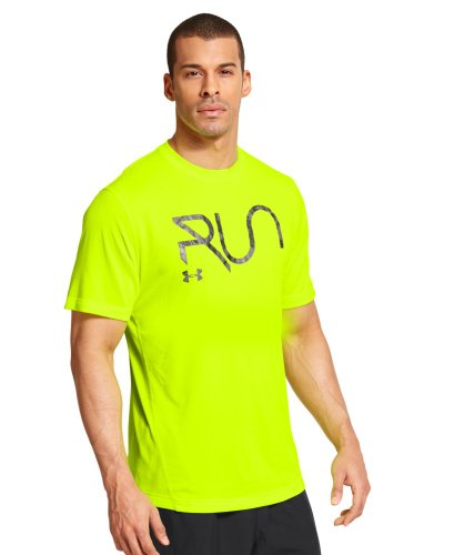 Under Armour Men's UA All Over Grid T-Shirt Large High-Vis Yellow