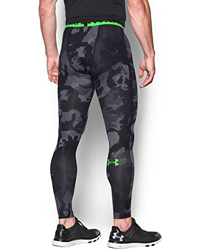 Under Armour Armour HeatGear Printed Legging - Mens Black / Steel 006 Small by Under Armour (Image #1)