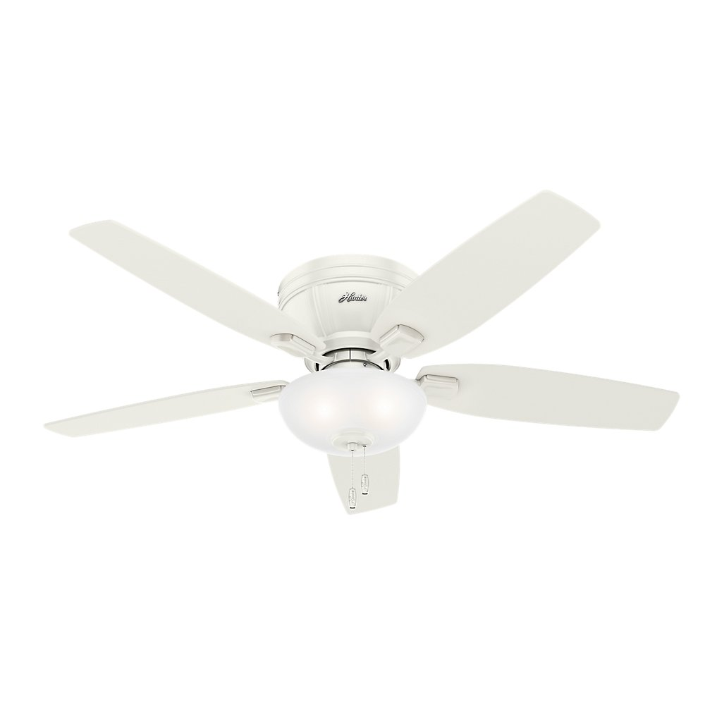 Hunter 53378 Kenbridge 52'' Ceiling Fan with Light, Large, Fresh White