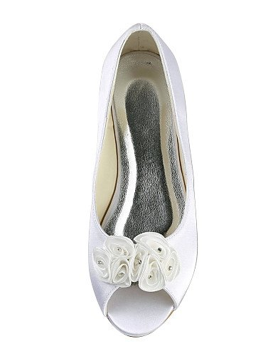 Blanco white boda Fiesta Punta Marfil Abierta 1in under Noche Boda 1in GGX Bailarina de under ivory Zapatos Planos y Mujer 7qwxH8E
