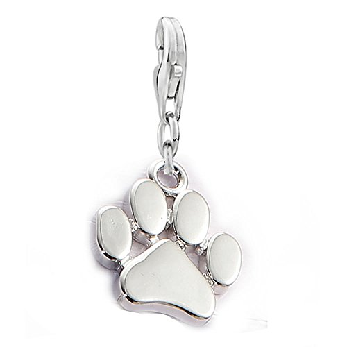 Dog Paw Clip on Lobster Clasp Claw Charm for Bracelet
