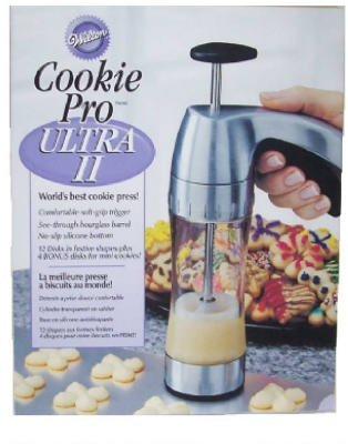 Wilton Industries 2104-4018 Pro Ultra II Cookie Press With Bonus Mini Cookie Discs - Quantity 3