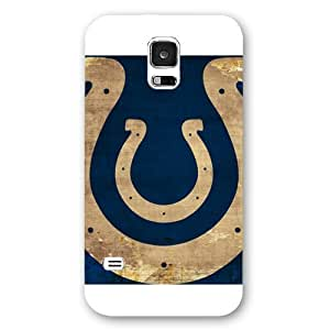 Onelee Customized NFL Series Case for Samsung Galaxy S5, NFL Team Indianapolis Colts Logo Samsung Galaxy S5 Case, Only Fit for Samsung Galaxy S5 (White Frosted Shell)