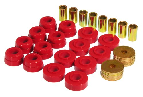 Prothane 7-133 Red Body Mount Kit