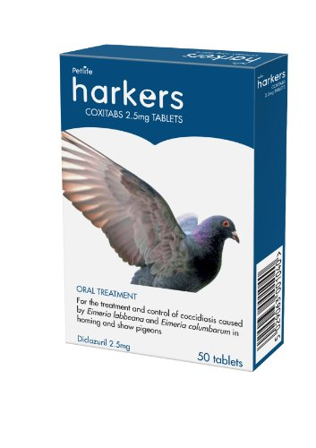 Petlife Harkers Coxitabs Coccidiosis Treatment For Pigeon, 50 Tablets