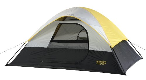 Wenzel South Bend Sport Dome Tent, Yellow/Black/White, Outdoor Stuffs