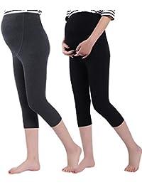 137e545e Women's Over The Belly Super Soft Support Maternity Capri Leggings