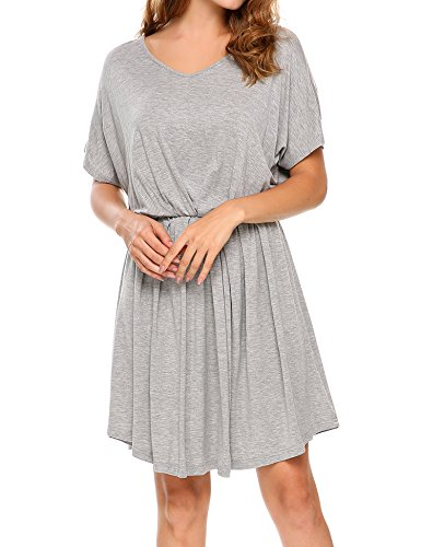 Meaneor Style lungo 770 Vestito Grey Summer xx6pS