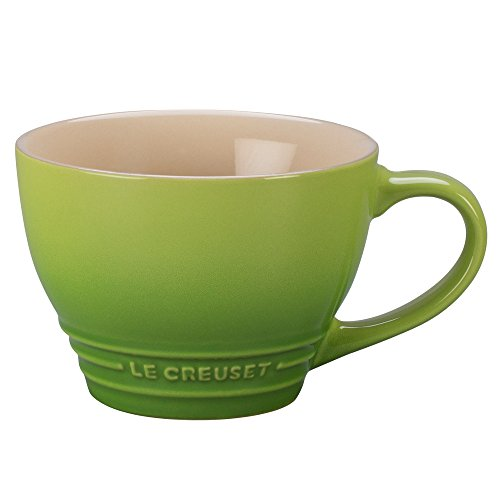 Le Creuset Stoneware Bistro Mug, 14 oz, Palm (Stoneware Mug Bistro)