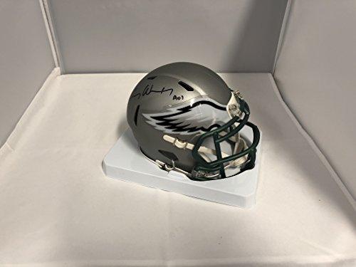 Carson Wentz Signed Autographed Philadelphia Eagles RARE BLAZE SPEED Mini Helmet COA & Hologram (Signed Helmet)