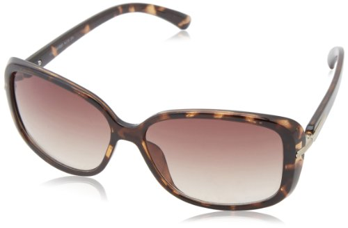 Calvin Klein Women's CWR673S-206 Rectangular Sunglasses, Dark Tortoise, 16 - Polarized Sunglasses Klein Calvin