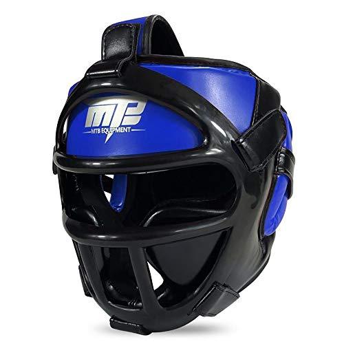 TKTTBD Boxing Headgear, Sparring Headgear, Boxing Training Martial Arts MMA UFC Headgear Head Guard Martial Kick Sparring Helmet Gear Face Head Protector - Ear Headgear Foam Guard