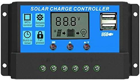 Amazon.com: Controlador de carga solar, controlador de panel ...