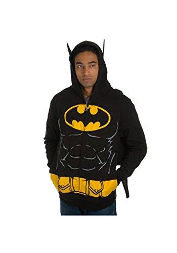 (DC Comics Batman Suit Up Hoodie with Cape Mens)