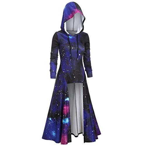 UOFOCO Irregular Parka Overcoat Womens Bandage Hoodies Back Coat Hooded Jacket Outwear