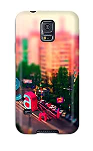Galaxy S5 Hard Back With Bumper Silicone Gel Tpu Case Cover Tilt Shift