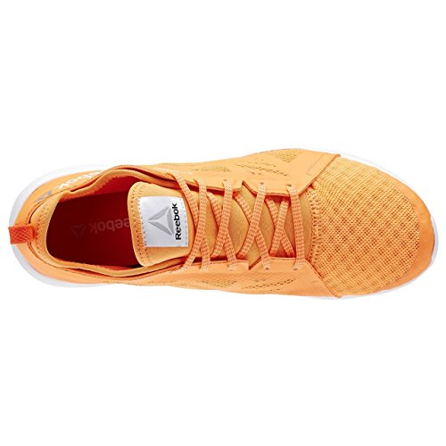 Reebok Cardio Inspire Low 2.0 Zapatillas de deporte, Mujer Naranja / Rojo / Blanco (Electric Peach/Atomic Red/Running White)