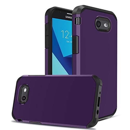OEAGO Galaxy J3 Emerge / J3 2017 / J3 Prime / J3 Eclipse / J3 Luna Pro / J3 Mission/Sol 2 / Amp Prime 2 / Express Prime 2 Case, Hybrid Dual Layer Defender Protective Case Cover (Purple)