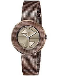 U - Play Collection Analog Display Swiss Quartz Brown Women's Watch(Model:YA129520)