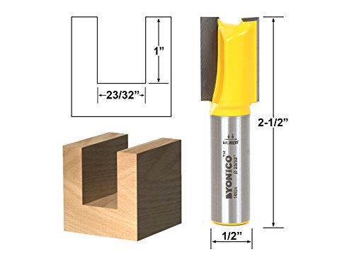 Yonico 14924 Undersized Plywood Straight Dado Router Bit with 23/32