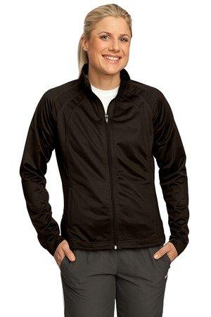 Sport-Tek Sport-Tek, Ladies Tricot Track Jacket, Dark Chocolate Brown, L from Sport-Tek