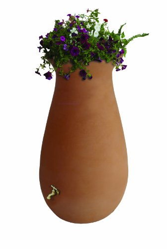 Rain Urn (Algreen Products EcoCascata Rain Barrel 65-Gallon, Terra Cotta)