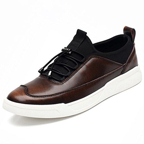 天皇職業中[XINXIKEJI]メンズデッキシューズ 通気 軽量 クッション性 スリッポン カジュアル ウォーキング 履き心地よい 歩きやすい 紳士靴  レッド ブラック ブラウン