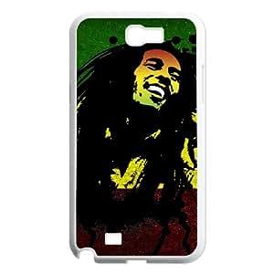Fashion Design Custom Phone Case for Samsung Galaxy Note 2 N7100 - Bob Marley DIY Cover Case JZQ-916282