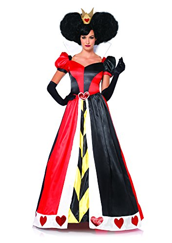 Leg Avenue Women's Disney 2 Piece Queen Of Hearts, Black/Red, Large
