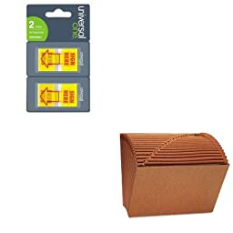 KITUNV13910UNV99005 - Value Kit - Universal Leather-Like Expanding File (UNV13910) and Universal Arrow Page Flags (UNV99005)