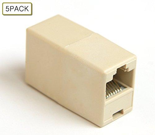 Maxmoral RJ45 CAT 5 5E Extender Plug Network Ethernet Lan Cable Joiner Coupler Connector 5PCS