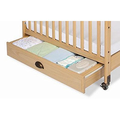 Foundations Worldwide EZ Store Crib Drawer with Magnasafe Latch for SafetyCraft, Natural