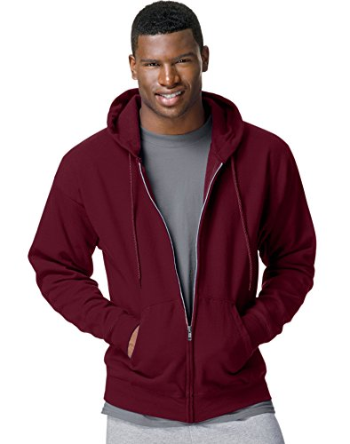 Zip Full Maroon Hoody - Hanes ComfortBlend EcoSmart Full Zip Hoodie_Maroon_M