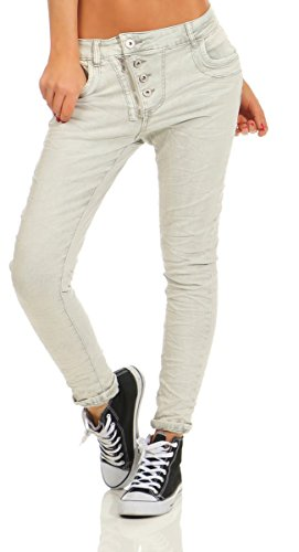 Fashion4Young Jeans - Femme Beige