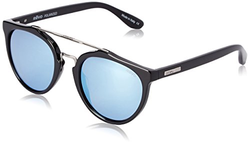 Revo Kingston RE 1009 01 GBL Polarized Round Sunglasses, Black, 52 (1009 Glasses)