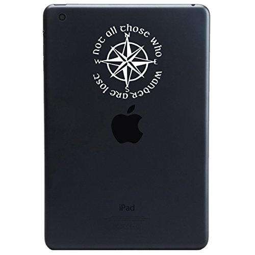 Not All Those Who Wander Are Lost LOTR Compass IPAD Tablet Vinyl Sticker Decal (6