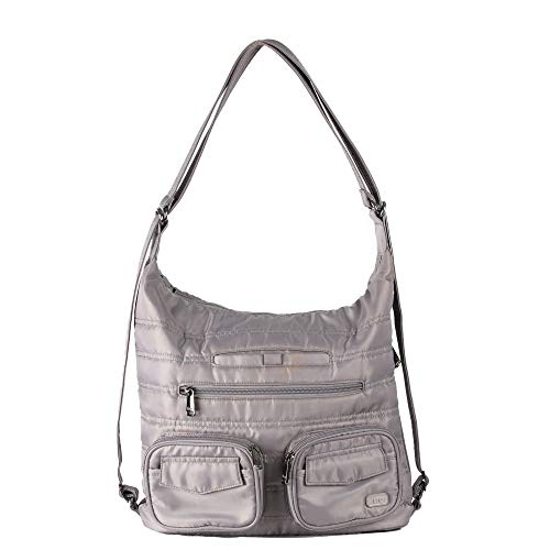 Lug Women's Zip Liner Convertible Bag, Pearl Grey Cross Body, One Size ()