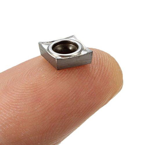 XNEMON 10PCS CCGT060204-AK H01 CCGT21.51-AK H01 Aluminum Carbide Insert for SCLCR Turning Tool Boring Bar Tool Holder Inserts