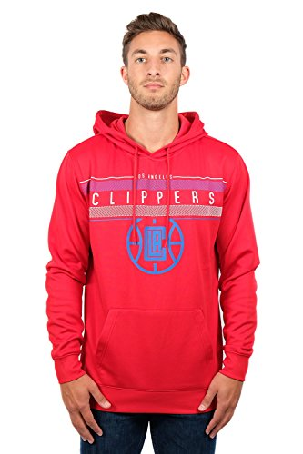 NBA Los Angeles Clippers Men's Fleece Hoodie Pullover Sweatshirt Poly Midtown, Medium, Red -