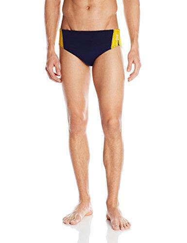 TYR SPORT Men's Phoenix Splice Racer Swimsuit (Navy/Gold, Size - Racer Tyr Male